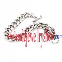 Stainless Steel Silver Monster Bracelet Wholesale Jewelry