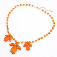 Fashion fashion neon color macaron colorful flower gem