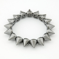 Fashion street style rivet elastic personalized bracelet