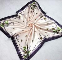 Lady Square Silk scarf 50*50cm light pink color 10pcs/lot cheap factory price