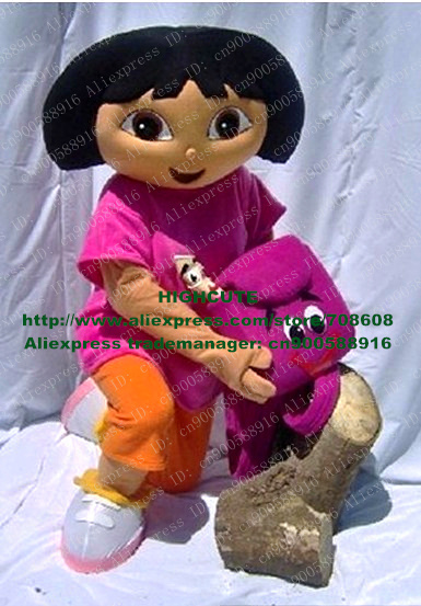 New DORA Mascot Costume Fancy Dress Cartoon Character MascottecOutfit Suit No.2516 Free Shipping(China (Mainland))
