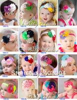 10pcs/lot girls Shabby Chic headband,baby flower headband with rhinestone/pearl/sequin bow
