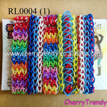 Triple Strand Rainbow Loom Rubberband Rubber Band Friendship Bracelet