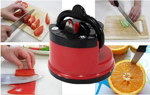 Knife Sharpener with suction pad Scissors Grinder Secure Suction Chef Pad Kitchen Sharpening Tool as seen on TV(China (Mainland))
