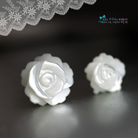 New arrive Star shell rose stud earring platier 18k 925 pure silver stud earring female accessories