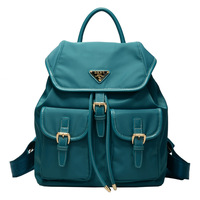 2013 preppy style backpack women's handbag solid color nylon bag travel backpack