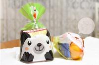 Cute black bear pattern biscuit cookie bread plastic bag OPP food bag Bakery packaging bag