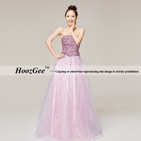 A-Line Sweetheart Strapless Floor Length Satin Tulle Dress For Party Prom Gown Evending Dress With Luxury Sequins HoozGee 22121
