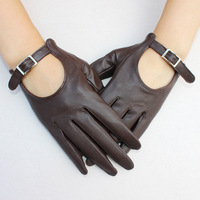 free shipping Leather gloves women's short design genuine leather sheepskin gloves genuine leather gloves thin winter