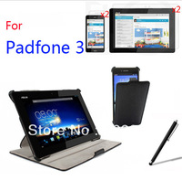 7in1 Ultra Smart Slim Folio Stand Leather Case Sleeve Cover +2x Screen Protector Films +Stylus for ASUS Padfone 3 Infinity A80