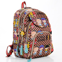 Harajuku valentine doll Large backpack travel cartoon cotton prints bag for outdoor mountaineering bag