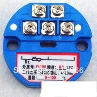 2PCS X New PT100 Temperature Transmitter Sensor 0-5V ,0-10V output -50-100 degree,0-100,200,300,500degree free shipping