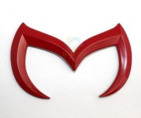 2Pcs 3D Red Bat Batman Metal Car Vehicle Emblem Badge Sticker Decal Mazda 3 5 6