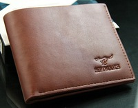 free shipping Men's short wallet Recreational Sports leather wallet cross Wallet Business