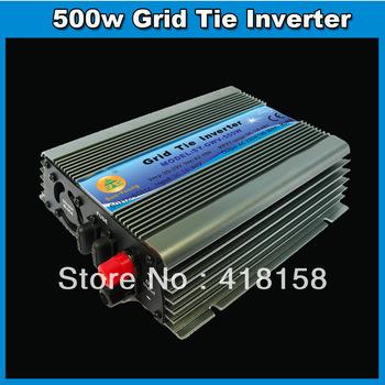 500W power inverter solar 15~60v wide voltage DC input PV grid tie inverter,for solar wind system MPPT function 1year warranty