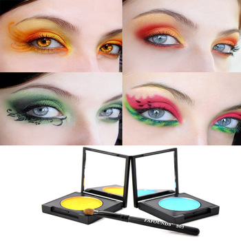 Professional make-up matt eye shadow plate solid color the earth color a eye shadow