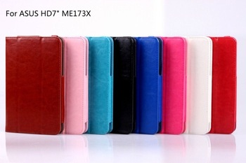 Free shipping Hot Selling case for ASUS memo pad hd7 me173x  tablet PU leather cases protective case cover