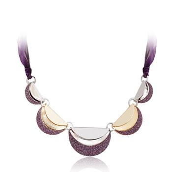 Purple romantic pendant fashion necklace female short design chain accessories