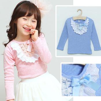 Children's clothing children long-sleeve t-shirt autumn children's clothing basic wool lycra shirt dress t-shirt