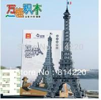 Free Shipping WanGe 8015 3D DIY 978PCS large Bricks blocks Building blocks sets eductional block toys THE EIFFEL TOWER OF PARIS