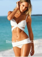 Real Victoria Export order sexy fashion bikini Pure White,women's swimwear, swimsuit,free shipping,  brand swimwear