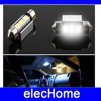 4 x 36mm Car Canbus Error Free White 3 SMD 5050 LED Festoon Dome Map Light Bulbs White Lighting Free Shipping