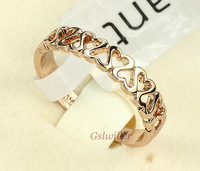 Min.order 2 pcs,Free Shipping Italina Rigant Wholesale, 18k Rose gold plated  Crystal Rings,Fashion ring Wedding ring Gift