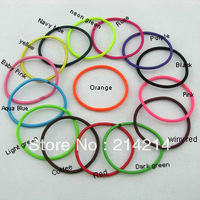 free shipping 80pcs/bag New Candy Color Rope Elastic Girl's Hair Ties Bands Headband hair Strap Hair Band