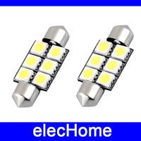 36mm 12V 5050 smd Car Interior Roof Light Canbus Error Free Festoon Dome LED Lamp Bulb 3021 DE3021 6411 6413 6418 DE3423 DE3425