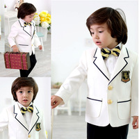 new 2013 child clothing sets boy suit male child school blazers formal dress child wear boy suit set 2-10 Age