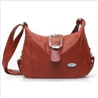 Free shipping 2013 women's genuine leather handbag one shoulder cross-body women's bags plaid mother bag