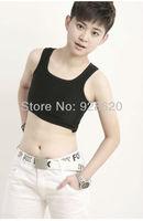 Hot Sale Black/White/Gray High Quality Velcro Chest/Breast Binder Trans Lesbian Tomboy Tank Tops,Comfortable Short Thin Vest