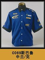 free shipping Automobile race clothing work wear SUBARU short-sleeve shirt SUBARU clothing