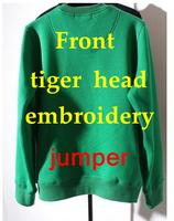 fashion womens tiger head embroidery sweater tiger 3d sweatshirt sports shirt winter long sleeve trendy hoodies fleece animal