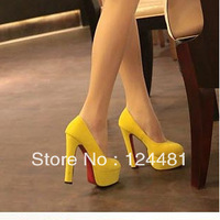 2013 spring and autumn single shoes princess high-heeled shoes thick heel platform 14 ol high-heeled shoes