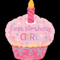 Free Shipping 35 helium gas aluminum helium balloon baby birthday decoration helium balloon girl cake
