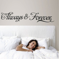 Always & forever Wall Quote decal Removable stickers decor Vinyl DIY art-small