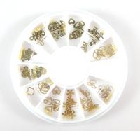 20pcs/lot Bk nail art accessories alloy k gold metal patch gold ultra-thin 60 box  free shipping