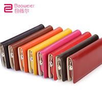 2013 female long design female bags cowhide women's wallet zipper change clip
