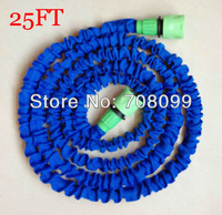 FedEx Free Shipping  Wholesales  100pcs/lot 25FT Expandable Flexible Garden Hose Green Fast Connector As seen On TV