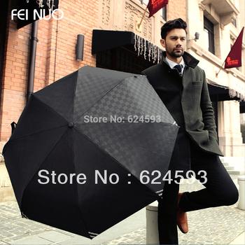 2013 High quality Luminous Men fully-automatic folding umbrella beach rain umbrella Free shipping