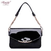 2013 spring candy color japanned leather chain serpentine pattern women's handbag one shoulder handbag messenger bag small bags