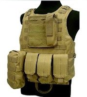 CS Vest Molle Tactical Vest Army fans amphibious vests camouflage / black / army green / clay color free shipping