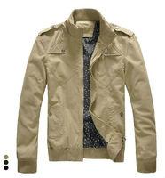 2013 New Autumn/Winter Fashion Men's Zipper Mandarin Collar Casual Coat Jackets Free Shipping LJ682