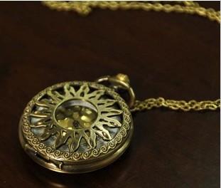 FG-034Free Shopping  wholesale antique fashion High Quality vertebra retro  alloy flame pocket watch(China (Mainland))