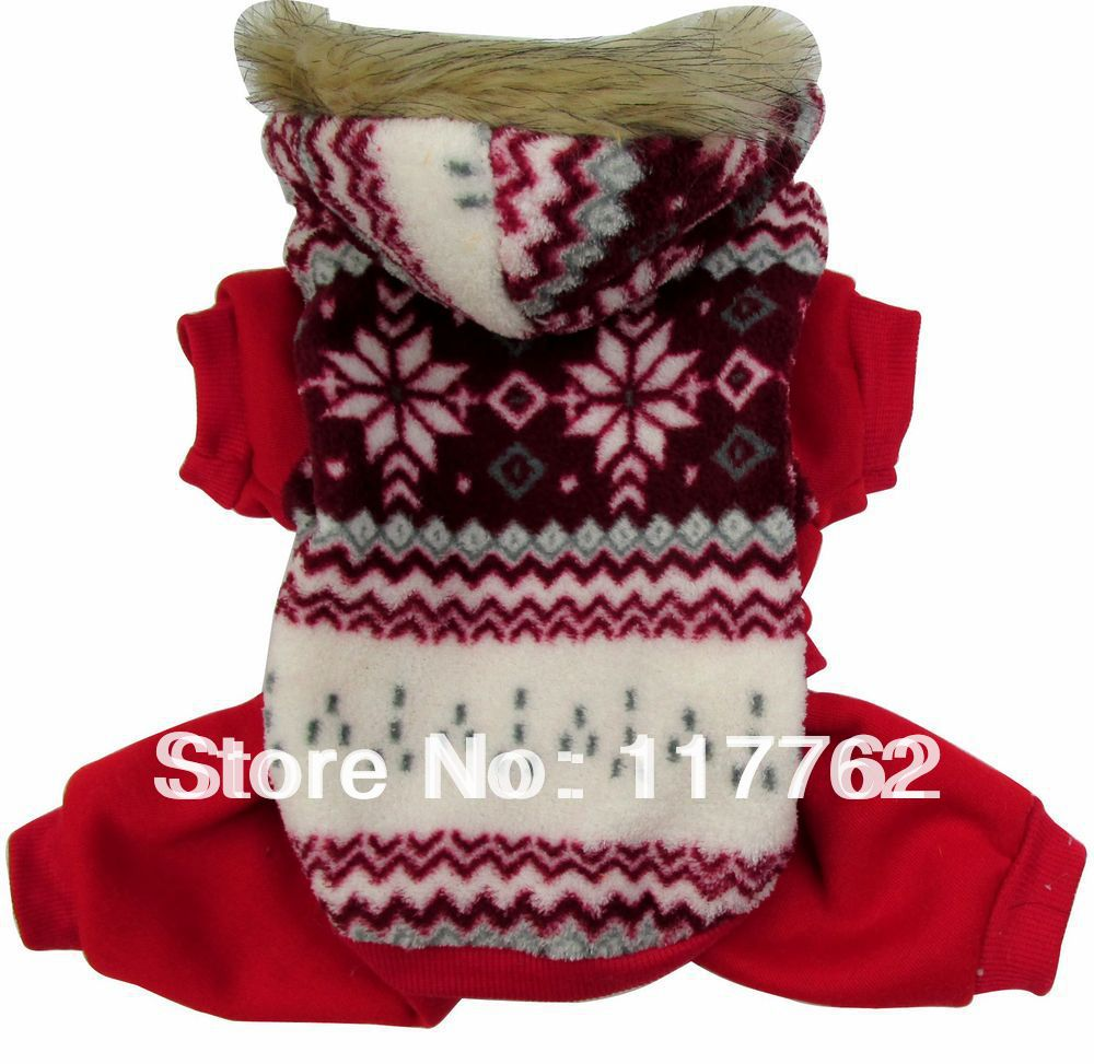 Retail Red Pet dogs Sweater winter coat Free Shipping Dogs Clothes new clothing for dog(China (Mainland))