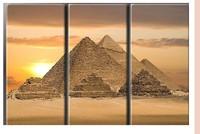 Huge 3 Panel Modern Art Ancient Egypt Pyramid