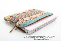 Free Shipping Universal Bohemia 7 8 9 10 11 12 13 14 15 inch computer/notebook / tablet protective sleeve case cover bag