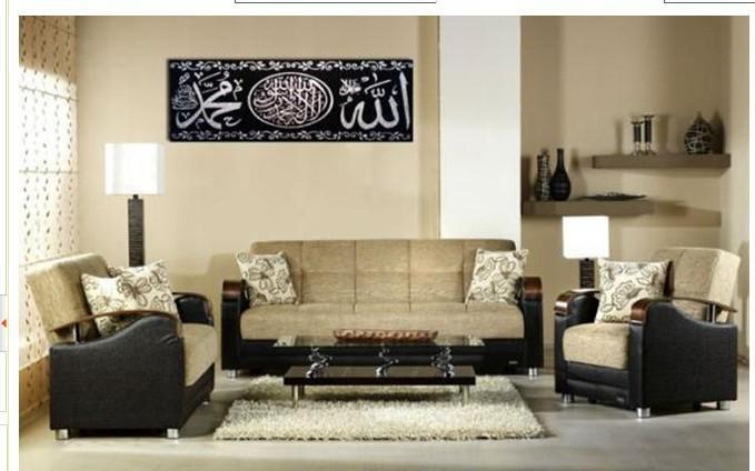 ... islamitische kalimah- arabische kalligrafie kunst- zwart en zilver