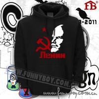 Thickening sweatshirt lovers hoodie fleece outerwear LENIN The Revolution printing hoodies